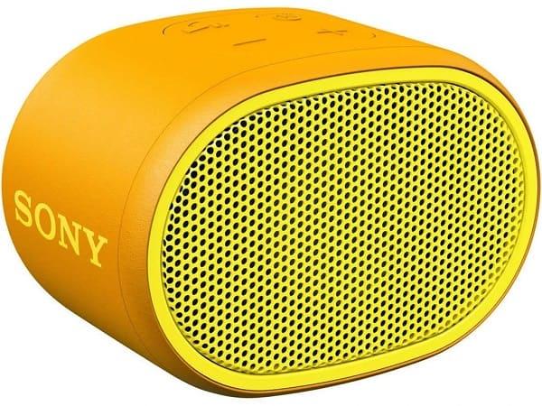 Sony SRSXB01G amarela portatil sem fios resistente a agua bluethooth