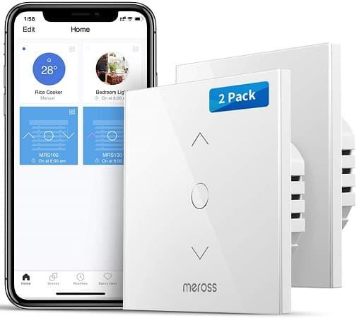 Cupão Amazon! Pack Duplo interruptores WiFi controlo de persianas por 22,8€