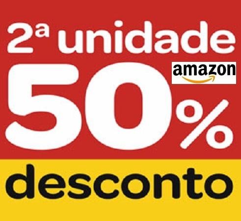 50% desconto segunda unidade Amazon