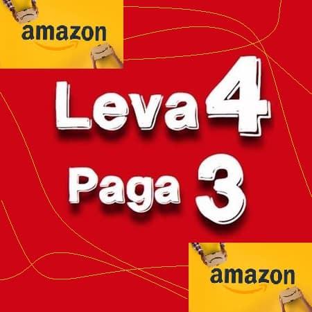 PROMOÇÃO AMAZON! Leva 4 paga 3 em material escolar