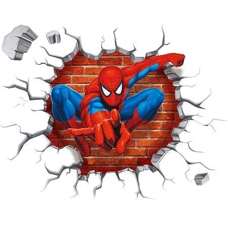 Autocolante de Parede 3D Spiderman 50x45cm desde Amazon apenas 2,35€