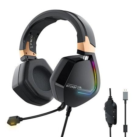 Auscultadores Gaming BlitzWolf® 7.1 Channel + USB com LED RGB por 21€ ou versão 3.5mm a 19€ com envio de Espanha