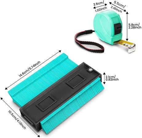 Medidor de contornos com 13,4 cm + Fita métrica