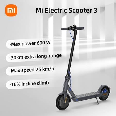 Trotinete Eléctrica Xiaomi Mi Electric Scooter 3 desde Europa a 389€