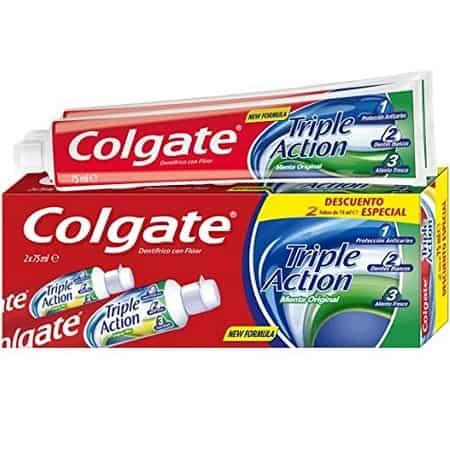 10 x 75 ml Colgate Triple Action Menta Original desde a Amazon só 5,1€